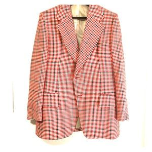 Cool, Red and white checkered blazer